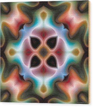 Mandala 82 Wood Print by Terry Reynoldson