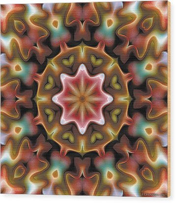 Mandala 92 Wood Print by Terry Reynoldson