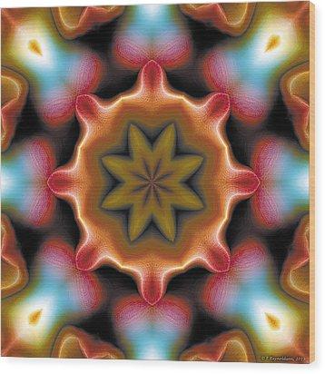 Mandala 94 Wood Print by Terry Reynoldson