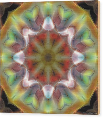 Mandala 97 Wood Print by Terry Reynoldson