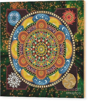 Mandala Elements Wood Print