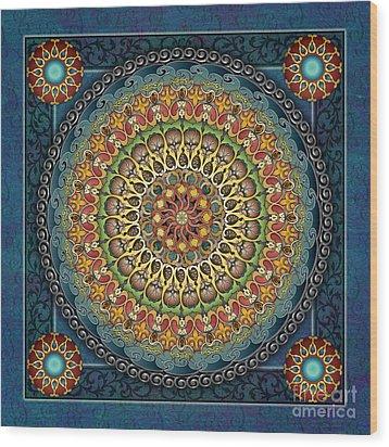 Mandala Fantasia Wood Print