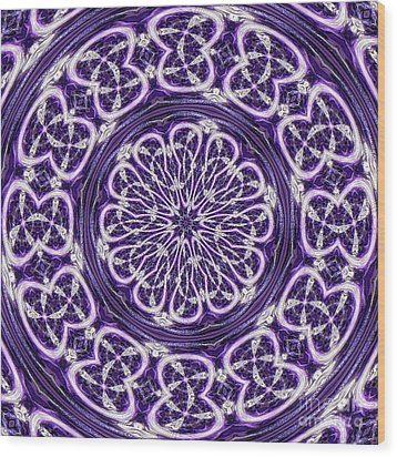 Wood Print featuring the photograph Mandala by Linda Weinstock