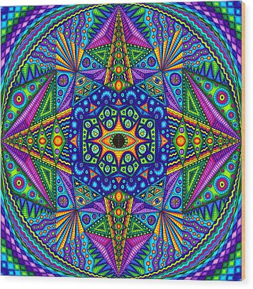 Mandala Madness Wood Print