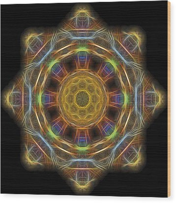 Mandala Of Light 1 Wood Print by William Horden