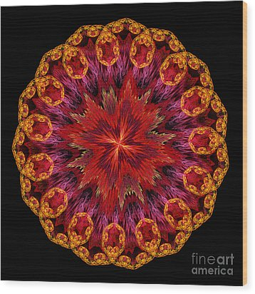Mandala Of Love Wood Print