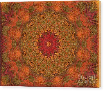 Mandala Of The Rising Sun - Spiritual Art By Giada Rossi Wood Print