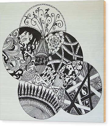 Mandalas Wood Print by Lori Thompson