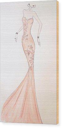 Mandarin Grace Wood Print by Christine Corretti