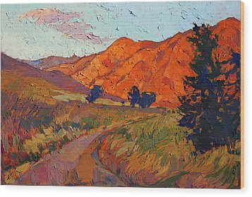 Mandarin Light Wood Print by Erin Hanson
