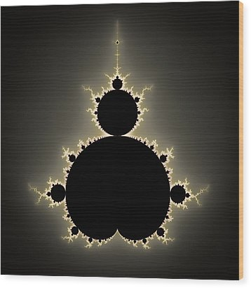 Mandelbrot Set Square Format Art Wood Print