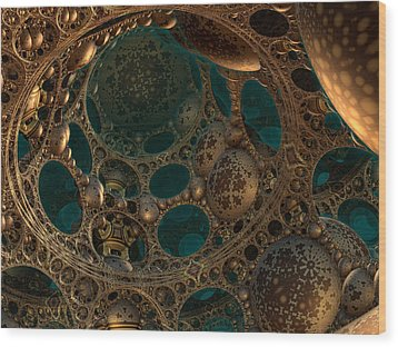 Mandelbulb Ceiling Wood Print by Melissa Messick