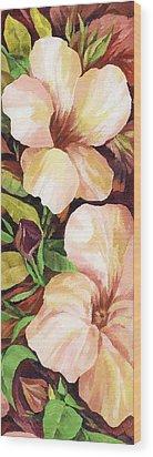 Mandevilla Wood Print by Natasha Denger