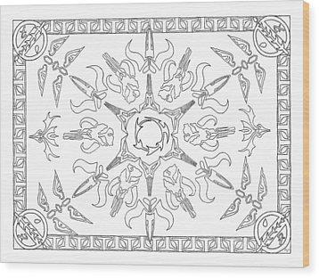 Mando'ade Darasuum Bw Wood Print by Mary J Winters-Meyer