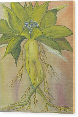 Wood Print featuring the painting Mandrake by Conor Murphy