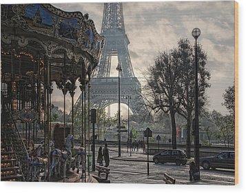 Manege Parisienne Wood Print by Joachim G Pinkawa