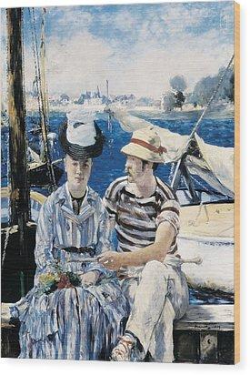 Manet, �douard 1832-1883. Argenteuil Wood Print by Everett