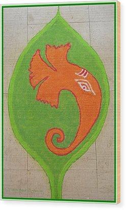 Mangalmurti Moraya Wood Print by Sonali Gangane