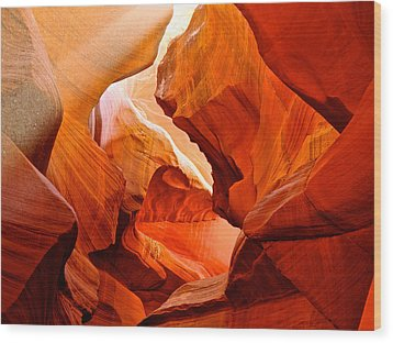 Manger Scene In Lower Antelope Canyon-az Wood Print by Ruth Hager