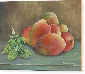Mango And Mint Wood Print by Trister Hosang