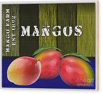Mango Farm Wood Print
