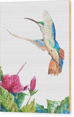 Mango Hummingbird Wood Print