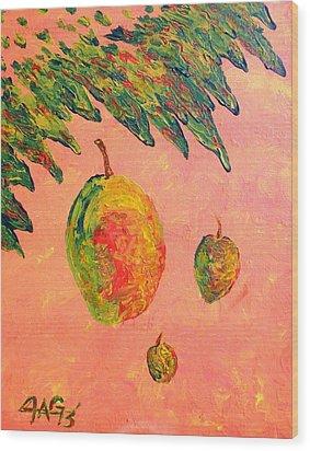 Mango Sky Wood Print by The GYPSY And DEBBIE