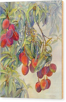 Mangoes In The Evening Light Wood Print by Dorothy Boyer