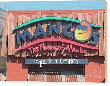 Mangos Restaurant At San Francisco California 5d26091 Wood Print by Wingsdomain Art and Photography