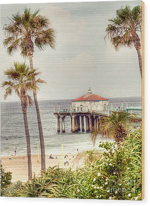 Manhattan Beach Pier Wood Print