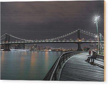 Manhattan Bridge - New York - Usa 2 Wood Print