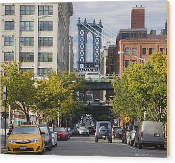 Wood Print featuring the photograph Manhattan Bridge From Dumbo by Jose Oquendo