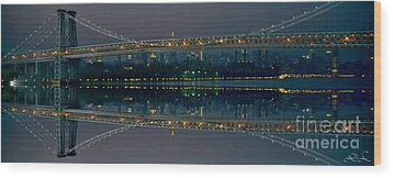 Manhattan Bridge New York Wood Print