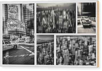 Manhattan Collection I Wood Print by Hannes Cmarits
