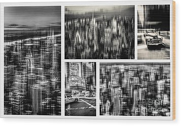 Manhattan Collection II Wood Print by Hannes Cmarits