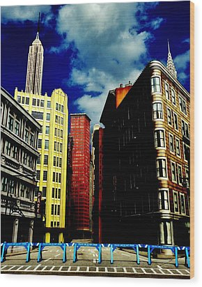 Manhattan Highlights Wood Print by Benjamin Yeager