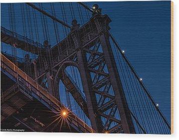 Wood Print featuring the photograph Manhattan Light by Linda Karlin