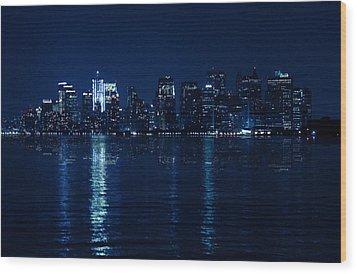 Manhattan Wood Print by Mark Ashkenazi