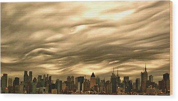 Manhattan Sky Wood Print