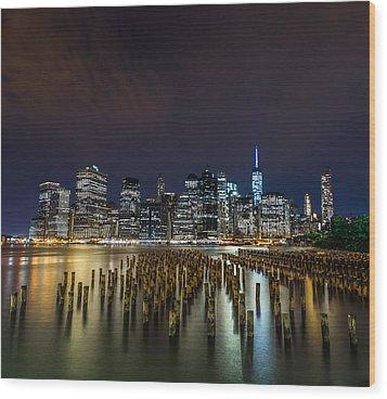 Manhattan Skyline - New York - Usa Wood Print