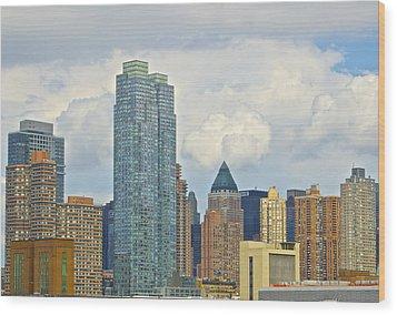 Manhattan Skyline II Wood Print by Galexa Ch