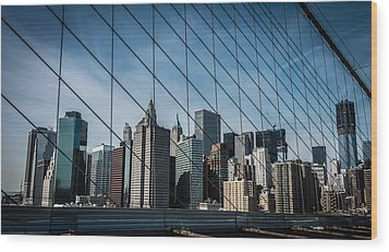 Wood Print featuring the photograph Manhattan Skyline by James Howe