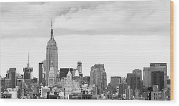 Wood Print featuring the photograph Manhattan Skyline by Takeshi Okada