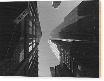 Manhattan Skyscrapers Wood Print
