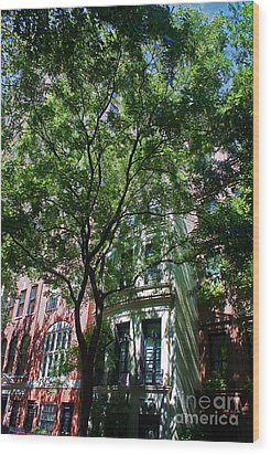 Wood Print featuring the photograph Manhattan Upper East Side Late Summer by Andy Prendy