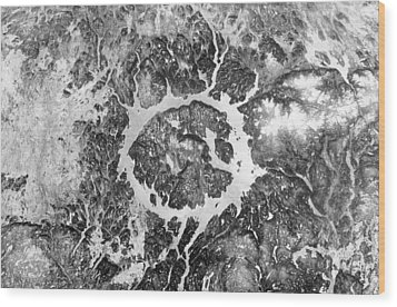 Manicouagan Crater Wood Print by Anonymous