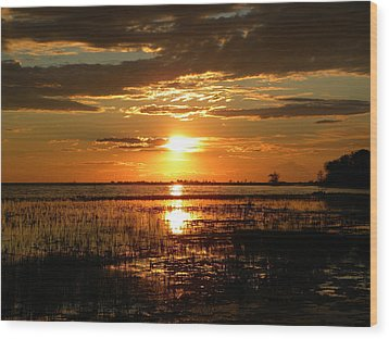 Wood Print featuring the photograph Manitoba Sunset by James Petersen