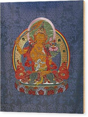 Manjushri Wood Print by Leslie Rinchen-Wongmo