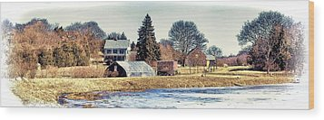 Wood Print featuring the photograph Manomet Farm by Constantine Gregory
