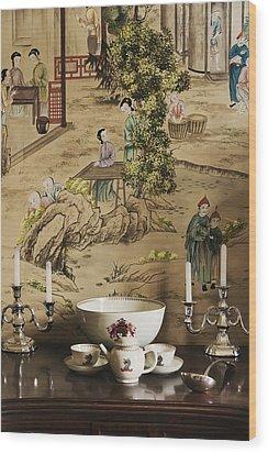 Manor Interior Wood Print by Svetlana Sewell